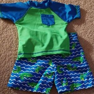 Lily and Dan Alligator swimsuit